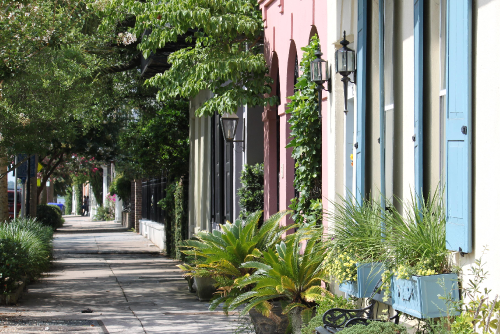 Charleston Sidewalks rainbow row